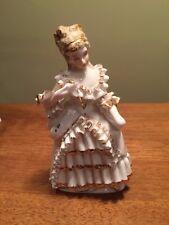 Vintage Porcelain Figurine,elegant lady in ballroom evening  dress 6.5 inches
