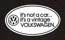 VW Volkswagen Vintage Euro Oval Sticker, Vintage Sports Car Racing Decal