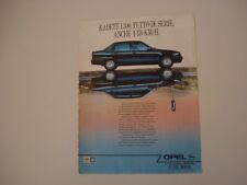 advertising Pubblicità 1988 OPEL KADETT 1300