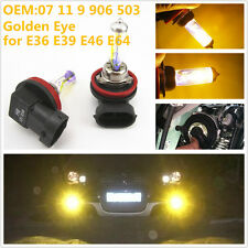 Yellow Angel Eye H8 35W Xenon Halogen Fog Light Head Light Bulbs BMW E46 E64 E90