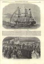 Curso práctico de Worcester distribuir premios 1866 francés Ironclad Ram taureau