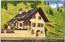 St. Moritz, Engadiner-Museum, Ansichtskarte als Lotterielos, ca. 20er Jahre