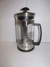 Mr.Coffee 1.2 Qt. 30 oz French Coffee Press Stainless Steel Glass Body New