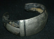 Amaziing!! Ancient Viking bracelet silver metal and animal bones very rare type