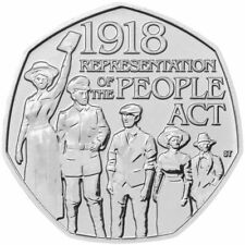 RARE 50P COIN 1918 Representation of the People Act 2018 Good condition! Last!