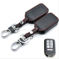 Fit Honda 2015-21 Odyssey 7 Button Remote Key Fob Bag Holder Leather Cover Case