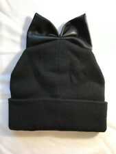Fall/Winter Warm Knit Ribbed Beanie Hat with BOW