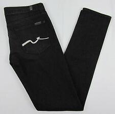 7 For All Mankind Roxanne Skinny jeans Rhinestones Black Womens Size 29