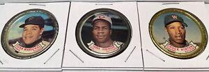 Juan Marichal - Frank Robinson - Chuck Hinton - 1964 Baseball Coins - # 36-37-38