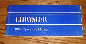Original 1969 Chrysler Owners Operators Manual 69 Newport New Yorker