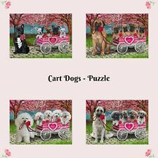 I Love Cart Dog Cat Jigsaw Puzzle with Photo Tin, Valentine Pet Photo Kid Toy