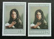 *FREE SHIP Austria - Liechtenstein Joint Issue Museum 2006 Girl (stamp pair) MNH