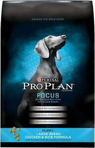 Purina Pro Plan Focus Puppy Food [Large Breed Chicken & Rice] (34 lb)