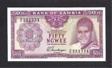 Zambia p-9a , UNC, 50 Ngwee , 1969, Signature no.3