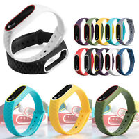 Double Color Sports Silicone Wristband Bracelet Watch Strap for XIAOMI MI Band 2