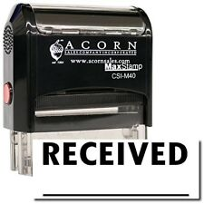 MaxStamp - Large Self-Inking Received Stamp (Two Line) (Black Ink)