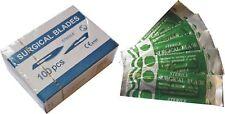 100 Pack Carbon Steel Sealed Sterile Surgical Vet Scalpel Blades New #11 New UK