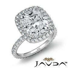 4.55ctw Certified Stone Cushion Diamond Engagement Ring GIA D-SI1 Platinum Rings
