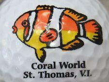 (1) CORAL WORLD ST THOMAS VIRGIN ISLANDS LOGO GOLF BALL