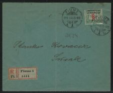 1919 Fiume Registered Cover - Scott #24 - Fiume to Susak