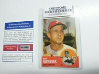 1963 Roy Sievers Topps #283 Signed Baseball Card (Certificate of Authenticity)