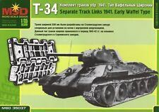 MSD 35037 Separate Track Links for Soviet Tank T-34 (Early WAFFLE TYPE,1941)1:35
