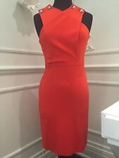 GUCCI Orange Cross Over Stretch Viscose Dress size Small