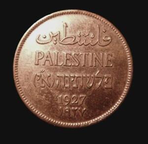 1927 Palestine 2 Mils KM2 Ch EF