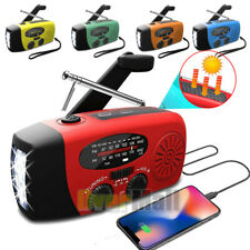 Emergency Solar Hand Crank Weather AM/FM/NOAA Radio SOS Alarm 2000mAh Power Bank
