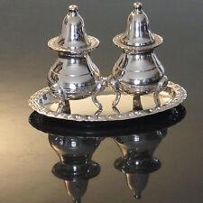 Salzstreuer Pfefferstreuer Set Antik Silber Jugendstil Menage Salz und Pfeffer