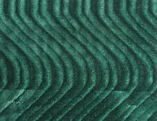 """Hunter Green Velvet Swirl Flocking Upholstery Drapery Fabric - BTY - 58"""" / 60"""""""