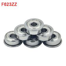 10 Pcs F623ZZ 3D printer F623 ZZ flange bushing ball bearings 3x10x4 mm