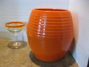 Bauer Ring Ware Cookie Jar Bottom Orange Pottery Vintage