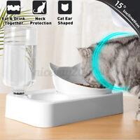 2 in 1 Automatischer Wasserspender Haustier Hund Welpe Katze Katzenfutterschale