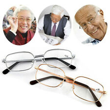Mens Womens Metal Frame Reading Glasses Rectangular 1.0 1.5 2.0 2.5 3.0 3.5 4.0