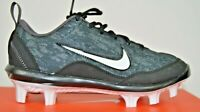 NEW Nike Hyperdiamond Softball Cleats Youth Girls Size 5.5 Blk wht