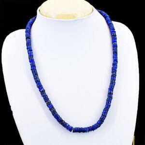 Edelsteinkette Schwarz Lapislazuli 50cm Collier Halskette 06-07 mm Perle