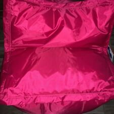 PINK Bean Bag COZY Chair! LARGE - BIG JOE Chair - Converts into Ottoman -  New!!
