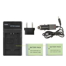 2X NB-13L Batteries + Car Charger + Adapter For Canon G3X G5X G7X G9X Camera