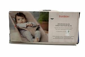 BabyBjörn Bouncer Bliss Quilted Cotton Anthracite  NEW 0-2 Years Open box