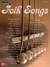 Folk Songs Sheet Music Strum & Sing Series Easy Guitar Book NEW 002501482