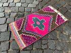 Bohemian rug, Vintage small rug, Handmade wool rug, Doormats | 1,2 x 2,2 ft