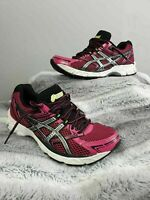 Asics Pink Black Gel Equation Running Fitness Sport Trainers UK Size 3 - EUR 37