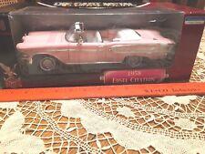 Edsel Citation Model Car,Pink Convertible 1958, New in Box, Die Cast Metal 1:18