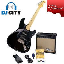 Electric Guitar Pack Kit Black Guitar Amp Tuner Strap Picks - DJ City