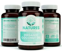 2000mg Organic Coconut Oil - 120 Count- For Skin, Weight Loss, Hair Growth