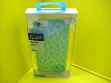 iLUV FESTIVAL HARDSHELL CASE FOR APPLE IPHONE 5 BABY BLUE & WHITE COLOR