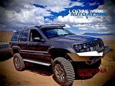 52 inch Curved 5D optics LED Light Bar Mounting Brackets JEEP Grand Cherokee WJ