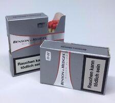 2x Streichholzschachtel Benson & Hedges silver slide * B & H