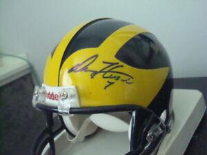 DREW HENSON AUTOGRAPHED MICHIGAN WOLVERINES FOOTBALL Mini Helmet SIGNED